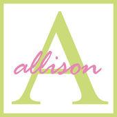 Allison name monogramm — Stockfoto