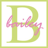 Bailey Name Monogram — Stock Photo