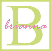Brianna Name Monogram — Stock Photo