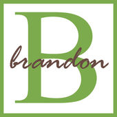 Brandon Name Monogram — Stock Photo
