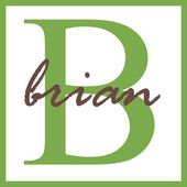Brian Name Monogram — Stock Photo