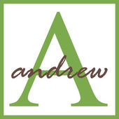Andrew Name Monogram — Stock Photo