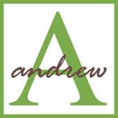 アンドリューの名前のモノグラム — ストック写真
