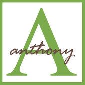 Anthony Name Monogram — Stock Photo