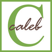 Caleb Name Monogram — Stock Photo