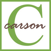 Carson Name Monogram — Stock Photo