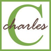 Charles Name Monogram — Stock Photo
