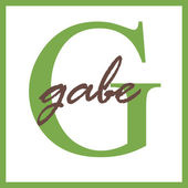 Gabe Name Monogram — Stock Photo
