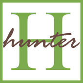 Hunter Name Monogram — Stock Photo