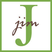 Jim Name Monogram — Stock Photo