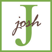Josh Name Monogram — Stock Photo