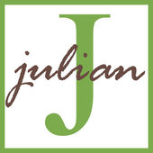Julian Name Monogram — Stock Photo