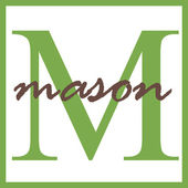 Mason Name Monogram — Stock Photo