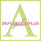 Angelina Name Monogram — Stock Photo