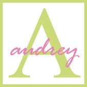 Audrey Name Monogram — Stock Photo