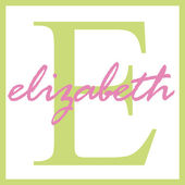 Elizabebth Name Monogram — Stock Photo