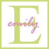 Emily nazwa monogram — Zdjęcie stockowe