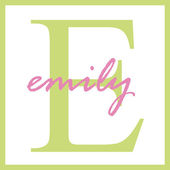 Emily Name Monogram — Stock fotografie