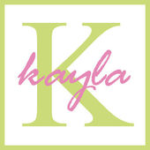 Kayla Name Monogram — Stock Photo