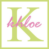Khloe Name Monogram — Stock Photo