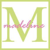 Madeline Name Monogram — Stock Photo