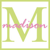 Madison Name Monogram — Stock fotografie