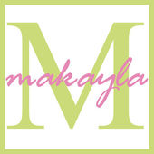 Makayla Name Monogram — Stock Photo