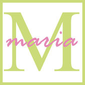 Maria Name Monogram — Stock Photo