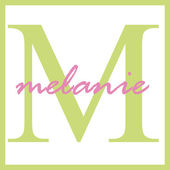 Melanie Name Monogram — Stock Photo