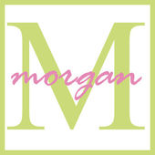 Morgan Name Monogram — Stock Photo