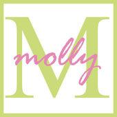 Molly Name Monogram — Stock Photo