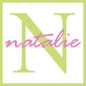 Natalie jméno monogram — Stock fotografie