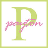Payton Name Monogram — Stock Photo