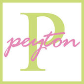 Peyton Name Monogram — Stock Photo