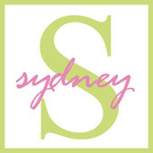 Sydney Name Monogram — Stock Photo