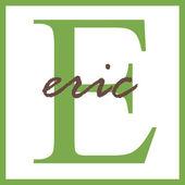 Eric Name Monogram — ストック写真