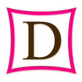 D Pink And Brown Monogram — Stock Photo