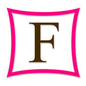 F Pink And Brown Monogram — Stockfoto