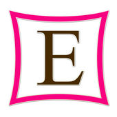 E Pink And Brown Monogram — Stock Photo