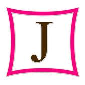 J Pink And Brown Monogram — Stock Photo