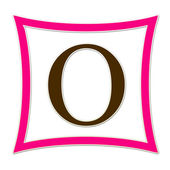 O Pink And Brown Monogram — Стоковое фото