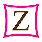 Z ピンクと茶色のモノグラム — ストック写真