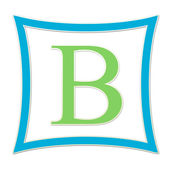 B Blue And Green Monogram — Stockfoto