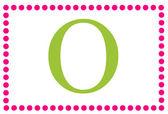 Monograma rectangular rosa & verde o — Foto de Stock