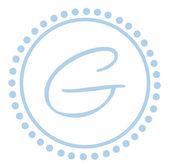 G rund blå bokstav monogram — Stockfoto