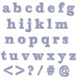 Foto Stock: Blue Bling Lowercase Alphabet