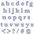 Blue Bling Lowercase Alphabet — Stock fotografie #12365435