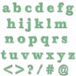 Foto Stock: Green Bling Lowercase Alphabet