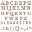 Orange  Bling Uppercase Alphabet — Photo