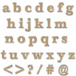 Orange Bling Lowercase Alphabet — 图库照片